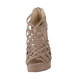 Modesta by Beston Women's 'Dema-01' Beige Woven Wedges