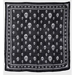 Raj Women's Skull Print Silk Scarf