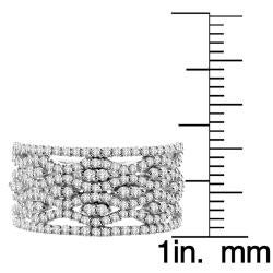 14k White Gold 1-1/20ct White Diamond Cocktail Ring (I1-I2)