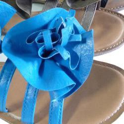 I-Comfort Women's Ruffle Flower Sandal