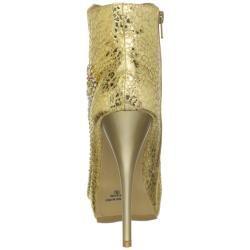Celeste Women's 'Succi-03' Gold Embellished Booties