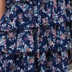 Stanzino Women's Crocheted Back Floral Blouse