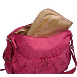 Hugamonkey Hot Pink Quilted Diaper Bag