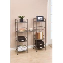 Seville Classics 4-tier Square Iron Folding Shelf