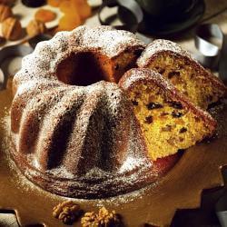 Freshware Gugelhupf Coffee Fluted Bundt Cake Silicone Mold/ Pan