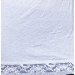 24/7 Frenzy White Lace-trim Spaghetti-strap V-neck Wrinkled Camisole