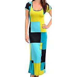 Stanzino Women's Geometric Print Maxi Dress