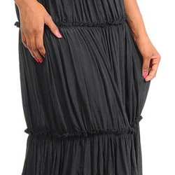 Stanzino Women's Halter Tiered Maxi Dress