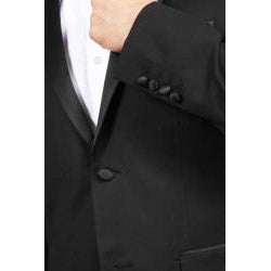 Ferrecci Men's Slim Fit Black Two-button Tuxedo