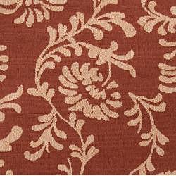 Coimbra Russet Floral Indoor/Outdoor Rug (8'9 x 12'9)