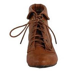 Modesta by Beston Women's 'Tiko-01' Camel Ankle Booties