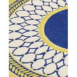 Alliyah Handmade Maize New Zeeland Blend Wool Rug (6' Round)