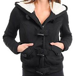 Stanzino Women's Zip Front Jacket with Faux Fur Lined Hood