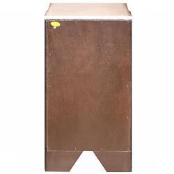 Silkroad Exclusive Dark Walnut Brushed Nickel Bathroom Vanity Side Cabinet Drawer Bank