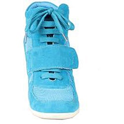 Refresh by Beston Women's 'Dakota' Teal Sneaker Booties