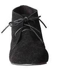 Refresh by Beston Women's 'Heidi' Black Lace-up Booties
