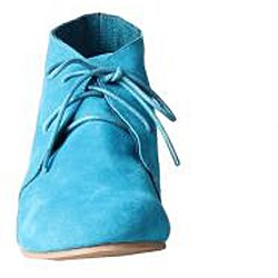 Refresh by Beston Women's 'Heidi' Teal Lace-up Booties