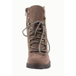 Blossom by Beston Women's 'Alpha-1' Brown Lace-up Boots