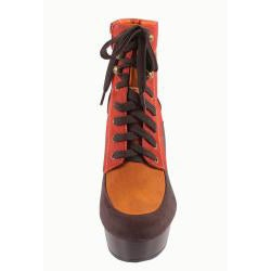 Blossom by Beston Women's 'Wilona-4' Lace-up Ankle Boots