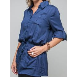 Stanzino Women's Button-front Military Tunic