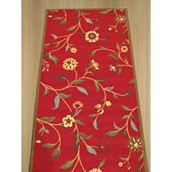 Euro Home Red Rug (2' x 7')