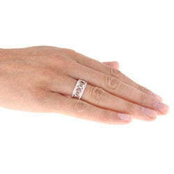 Sterling Silver 1/5ct TDW XOXO Diamond Ring