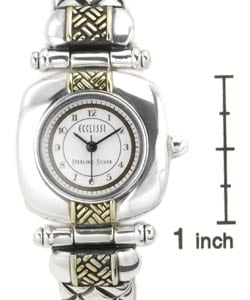Ecclissi Women's Sterling Silver Half-bangle Watch