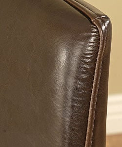 Leather Dining Chairs Dark Brown(Set of 2)