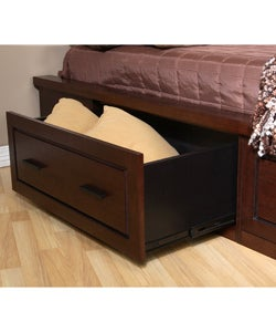 Garret Queen-size Platform Bed with Drawers and Headboard