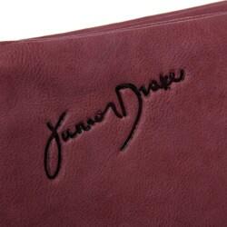 Junior Drake Women's Violet Leather Zip-around Wallet