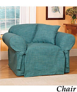 Madras Solid Teal Slipcovers Sofa 932470 Overstock
