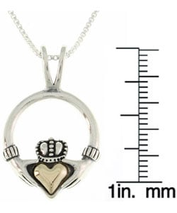 CGC 14-kt. Gold and Silver Claddagh Pendant