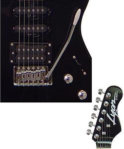 Washburn Lyon Black Electric Guitar