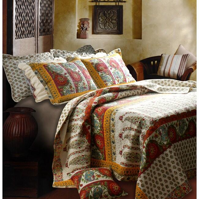 Greenland Home Fashions Marrakesh 3-Piece Quilt Set