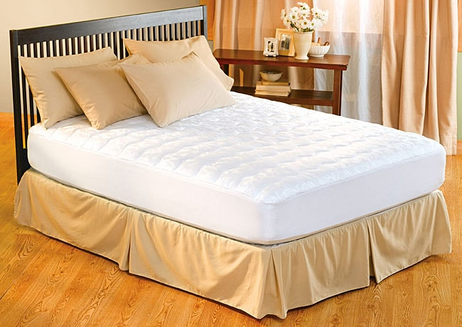 Antimicrobial Stain Protective Pillow Top Mattress Pad