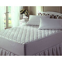 Buckingham Cotton/ Silk 1000 Thread Count White Mattress Pad