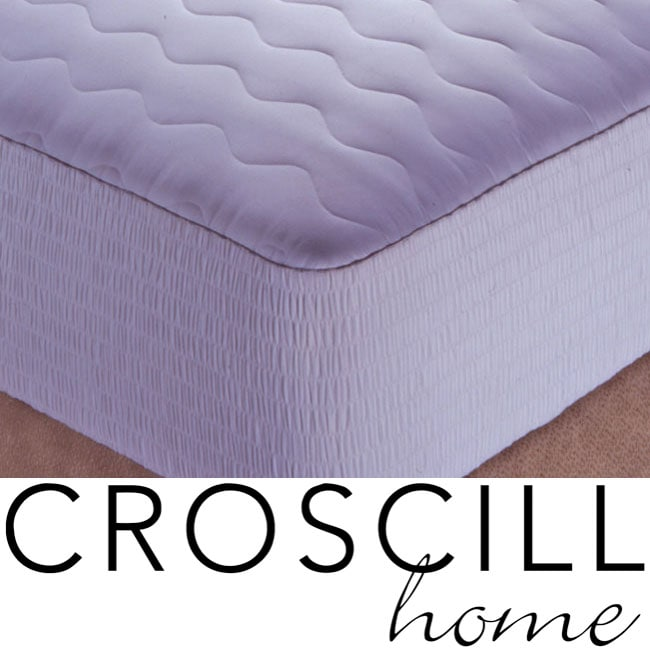 Croscill 300 Thread Count Cotton Sateen Top Fiber Fill Mattress Pad