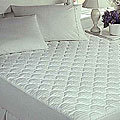 Hotel Collection 370 Thread Count White Mattress Pad