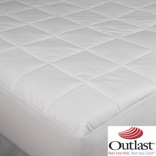Outlast Cotton 350t Thread Count Quilted  Mattress Pad