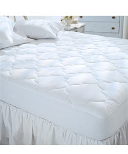 Sateen 300 Thread Count Cotton Mattress Pad