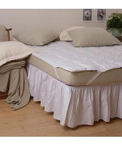 Super Stuff Deep Support Cotton-Polyester Plush Mattress Topper