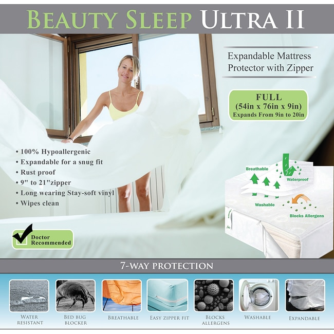 Bed Bug Waterproof Expandable to 20-inches Full-size Mattress Cover