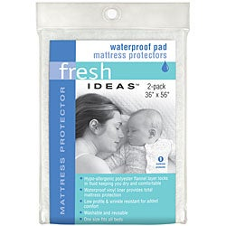 Waterproof Pad Mattress Protectors (One size fits all beds)  (Set of 2)
