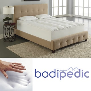 Bodipedic 4-inch Dual Layer Pillow Top Memory Foam Mattress Topper