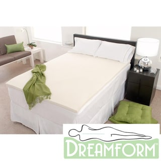 Dream Form Eco-friendly 3-inch 2-pound Density Memory Foam Mattress Topper