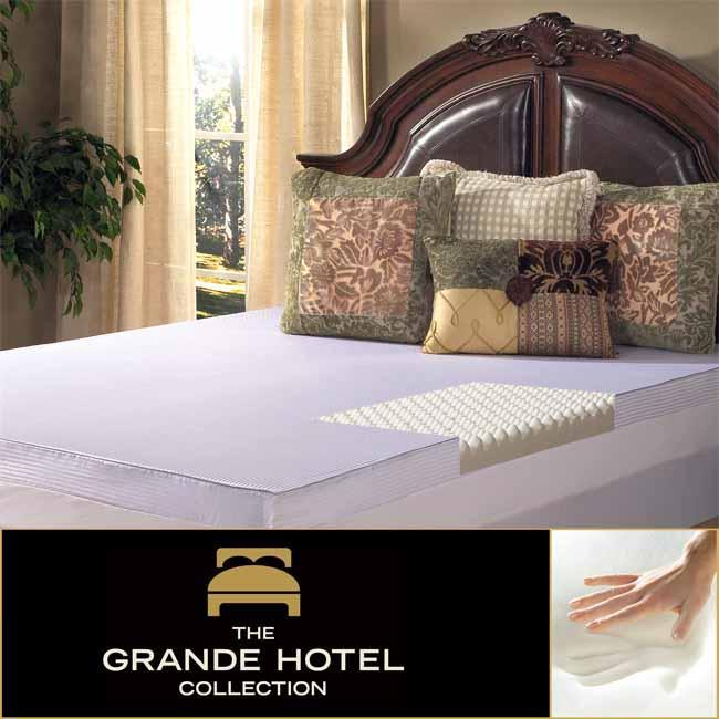 Grande Hotel Collection Comfort Loft 3-inch Queen/ King/ Cal King-size Memory Foam Mattress Topper with Cover