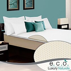 Select Luxury E.C.O. Naturally Dunlop Latex 2-inch Twin-size Reversible Mattress Topper with Cover