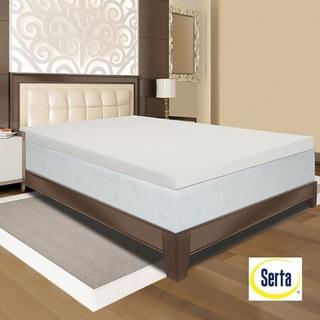 Serta Ultimate 4 inch Visco Memory Foam Mattress Topper