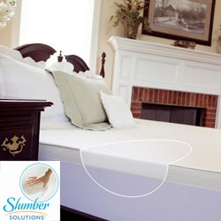 Slumber Solutions 2-inch Queen/ King/ Cal King-size Memory Foam Mattress Topper with Waterproof Cover