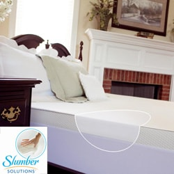 Slumber Solutions 3-inch Queen/ King/ Cal King-size Memory Foam Mattress Topper with Waterproof Cover